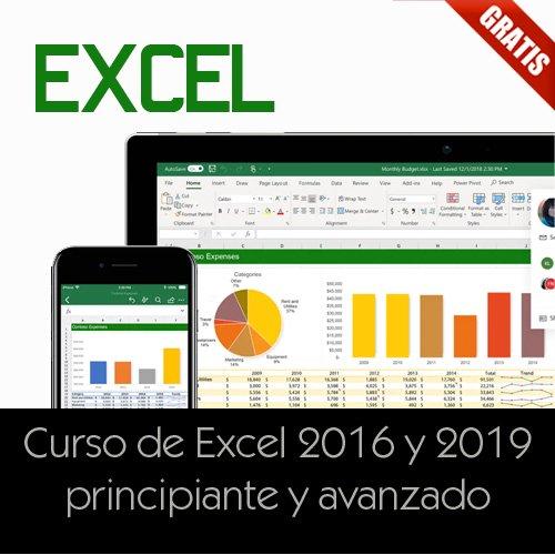 Curso de Excel 2016 y 2019 principiante y avanzado
